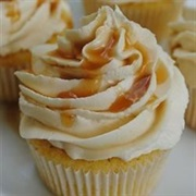 Almond Cupcake With Salted Caramel Buttercream Frosting