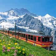 The Swiss Alps by Train