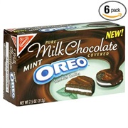 Pure Milk Chocolate Covered Mint Oreo