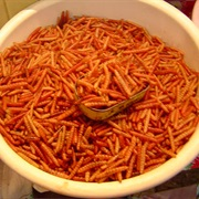 Deep Fried Maguey Worms