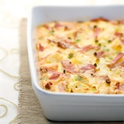 Bacon, Egg, and Cheese Ostrich Egg Bake