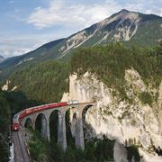 Railway in the Albula / Bernina Landscapes