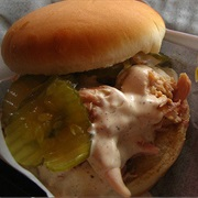Alabama-Style Chicken Sandwich With White Sauce
