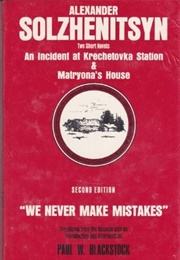 An Incident at the Krechetovka Station (Alexandr Solzhenitsyn)