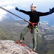Abseil of Table Mountain, South Africa