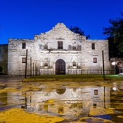 The Alamo and Riverwalk, San Antonio, Texas