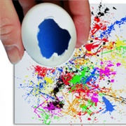 Decorate a Canvas With Paint Filled Eggs