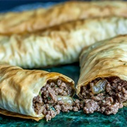 Traditional Meat Borek