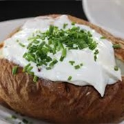Baked Potato and Sour Cream