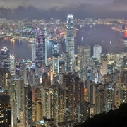 Victoria Harbour and Victoria Peak