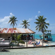 Share a Beer at the Lazy Lizard at the Split, a Laid-Back Beach Bar in Caye Caulker, Belize