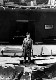 The House Collapsing Around Buster Keaton in Steamboat Bill Jr (1928)