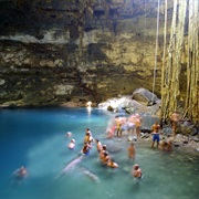 Bathe in a Cenote in the Yucatan, Mexico