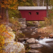 Amble Across Covered Bridges Over Country Streams
