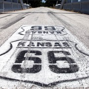 13 Miles of Kansas's Section of Route 66