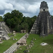 Visiting the Temple of Tikal, Guatemala