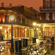French Quarter, Bourbon and Royal Streets of New Orleans