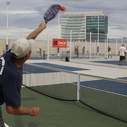 Play Pickle Ball at the Plaza