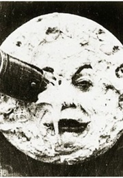 The Rocket in the Man in the Moon's Eye in La Voyage Dans La Lune (1902)