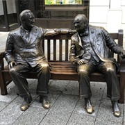 Statues of Allies Franklin D. Roosevelt and Winston Churchill London