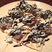 Blue Cheese Crumbles and Balsamic Reduction