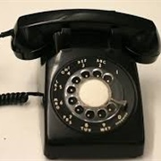 Black Desk Dial Phone