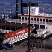 Floating McDonald's, on Mississippi River at St. Louis, MO