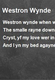 Westron Wynde (Anonymous)