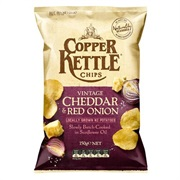 Copper Kettle Potato Chips Vintage Cheddar and Red Onion