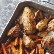 Baked Guinea Fowl and Sweet Potato