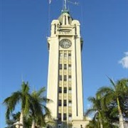 Aloha Tower in Honolulu, Hawaii