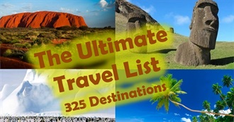 The Ultimate Travel List