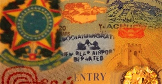 Real Places and Images on Passports & Stamps