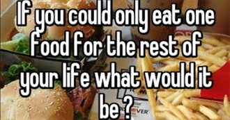If You Could Only Eat One Food for the Rest of Your Life