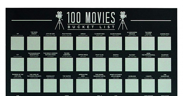Scratch Off Bucket List Poster Gift Republic 100 Movies
