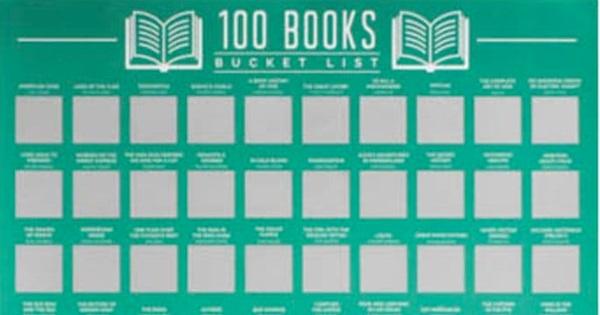 100 books scratch off bucket list