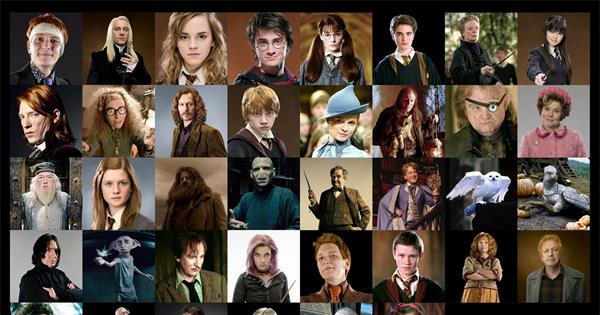 Harry Potter Characters - How many characters do you remember?